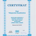 certyfikat criss LIZA